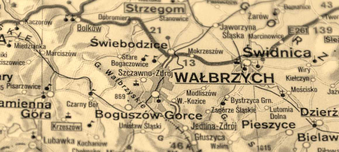 The gold train of Walbrzych map