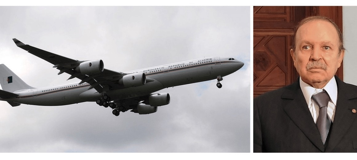 Abdelaziz Bouteflika featured alongside one of his private aircraft