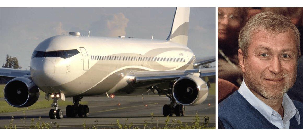 Roman Abramovich featured alongside his private aircraft