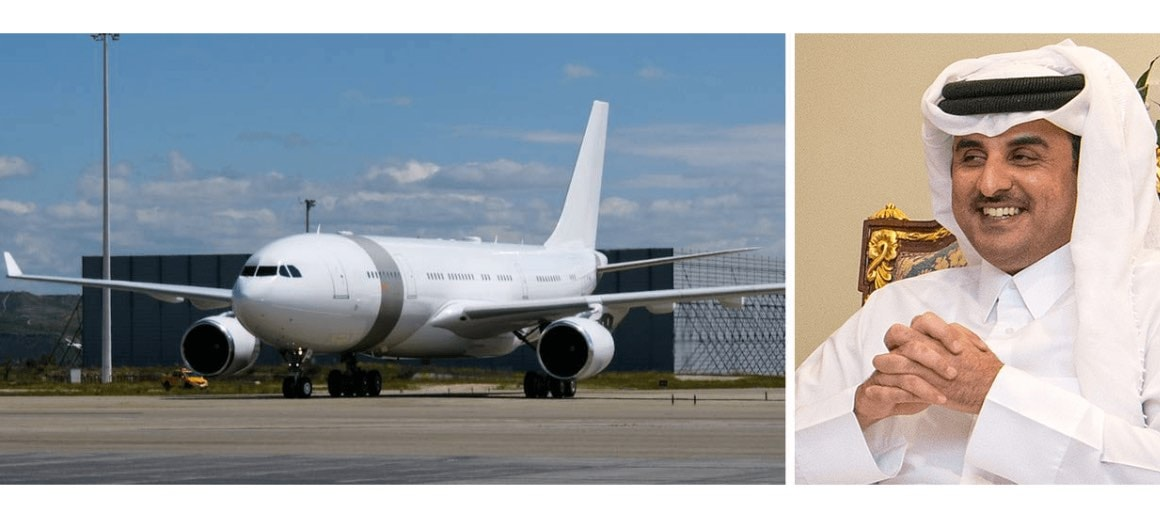 Tamim bin Hamad Al Thani featured alongside his private aircraft