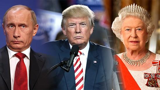 Vladimir Putin, Donald Trump and Queen Elizabeth II featured as world leaders