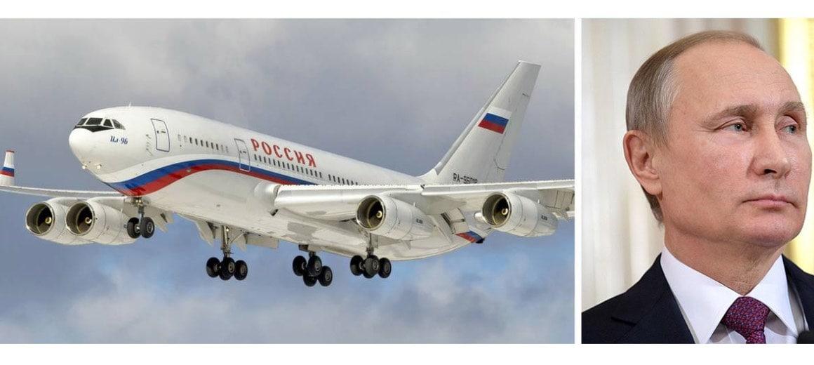Vladimir Putin featured alongside his private aircraft