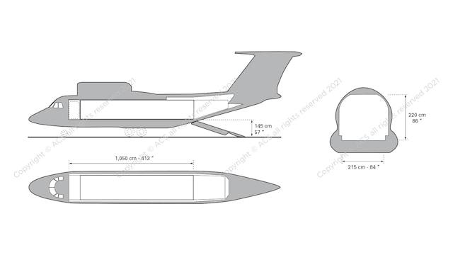 Antonov AN-74 Aircraft Layout