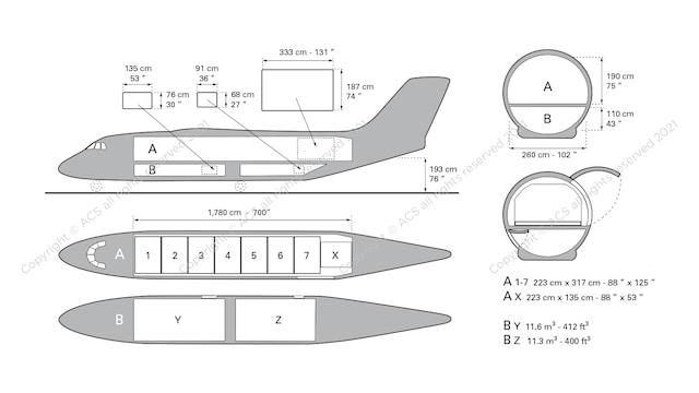 BAE 146-200F Aircraft Layout
