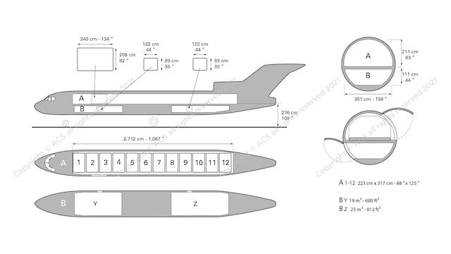 Boeing B727-200F Aircraft Layout