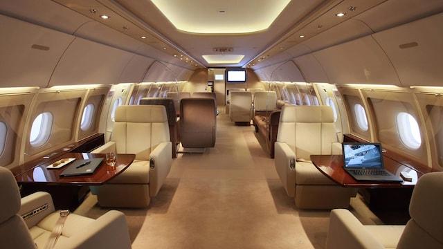 Airbus A318 Elite Interior
