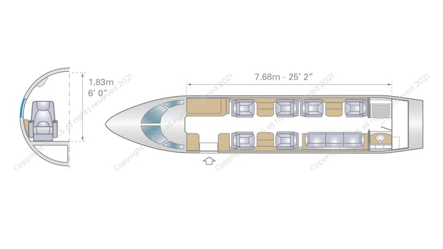 Bombardier Challenger 300 Aircraft Layout
