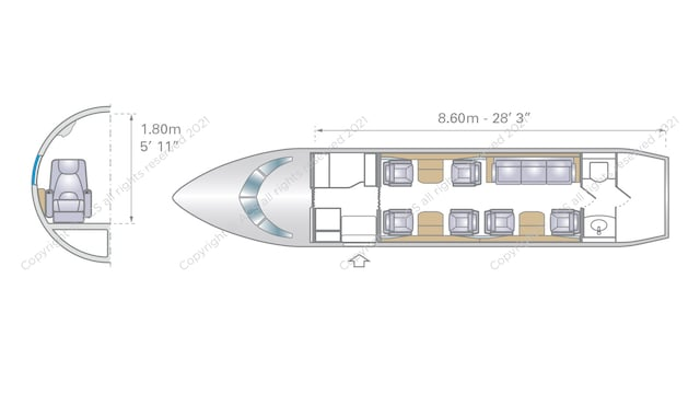 Bombardier Challenger 604 605 Aircraft Layout