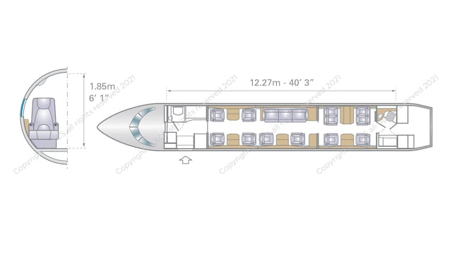 Bombardier Challenger 850 Aircraft Layout