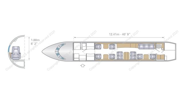 Bombardier Global 5000 Aircraft Layout