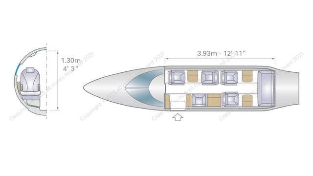 Bombardier Learjet 35 36 Aircraft Layout
